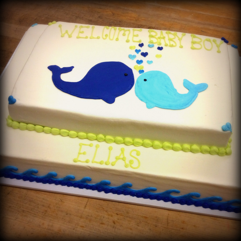 Baby Shower Cake with Whales