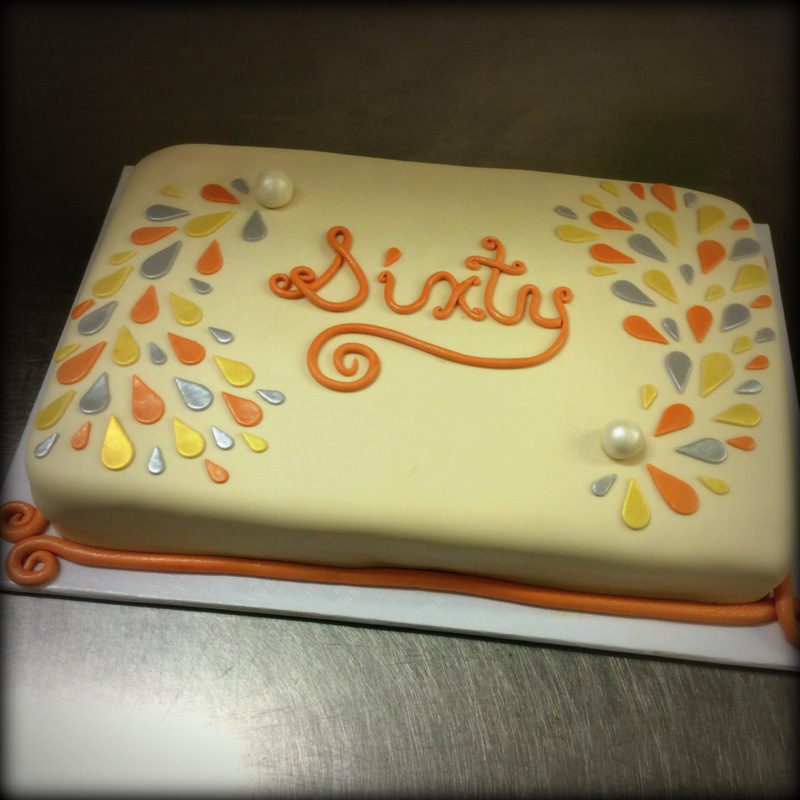 Fondant Sixtieth Anniversary Cake