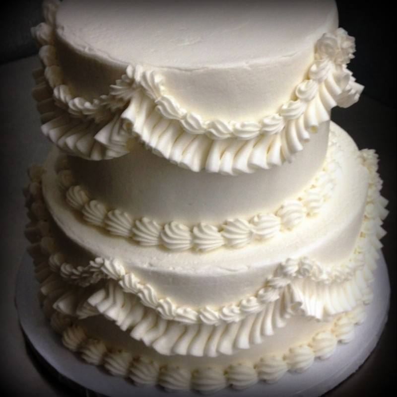 Party Cake with White Ruffles