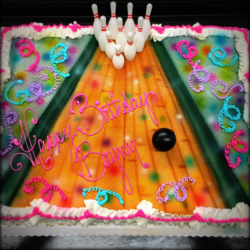 Airbrushed Bowling Cake