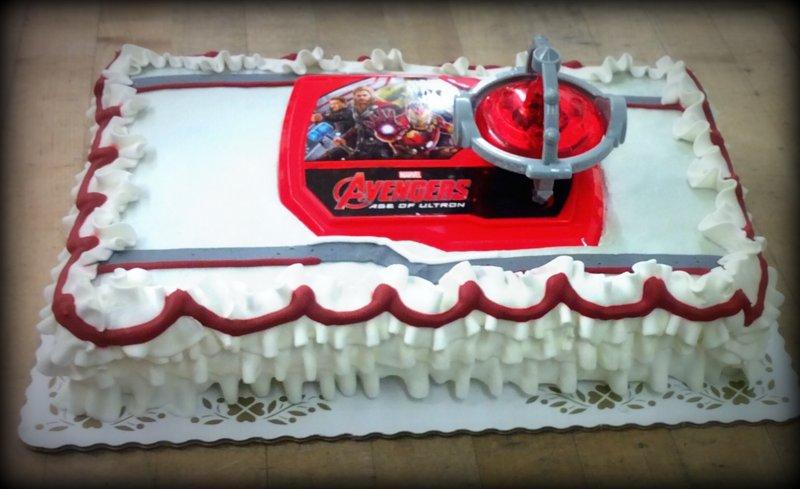 Avengers Sheet Cake
