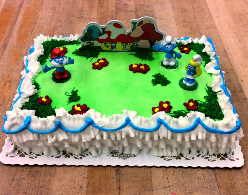 Smurfs Sheet Cake