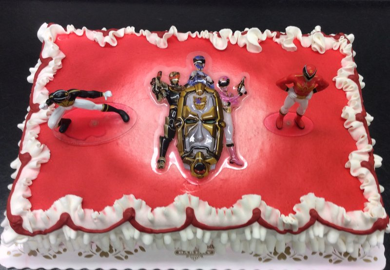 Power Rangers Sheet Cake