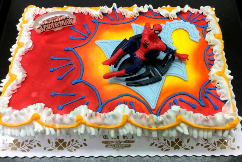 Spider-Man Sheet Cake