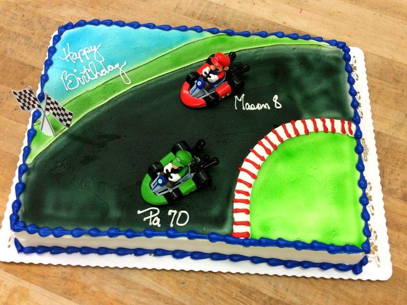 Mario Kart Sheet Cake