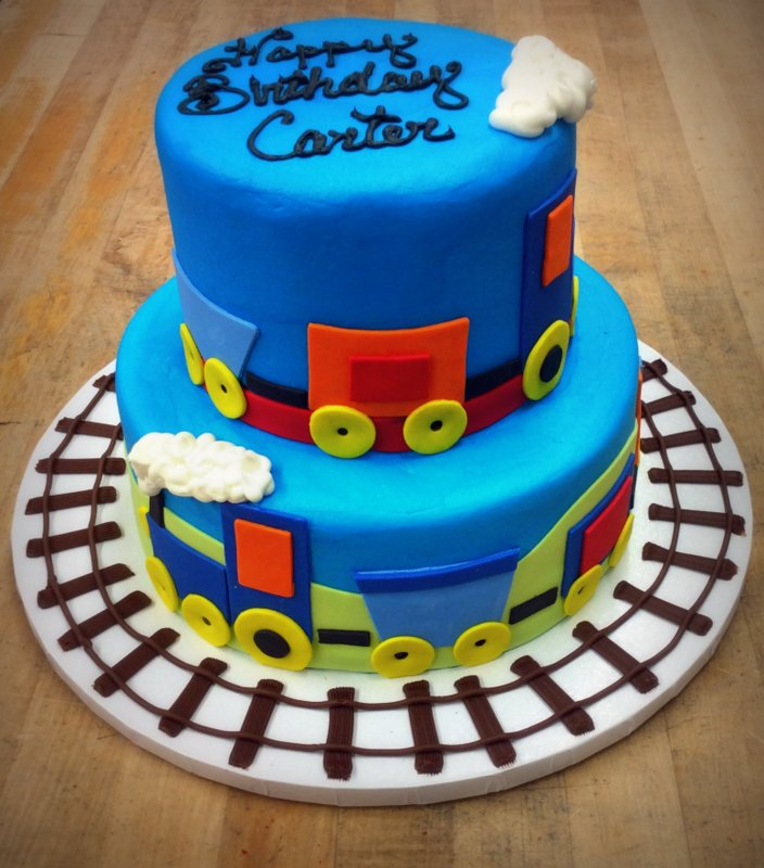 Fondant Train Party Cake