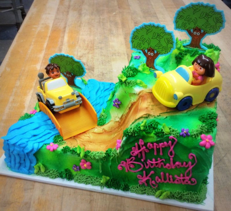 Dora the Explorer Specialty Cake