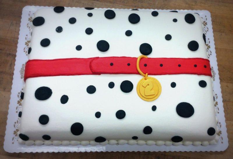 Dalmatian Dog Sheet Cake