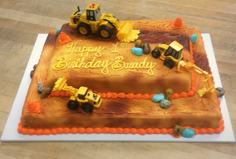 Construction Tiered Sheet Cake