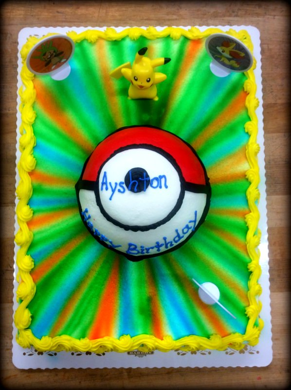 Sheet Cake with Pokemon Ball