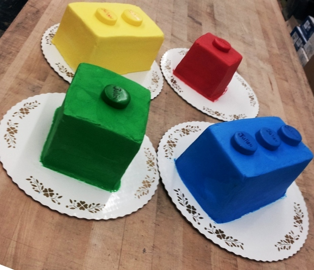 Lego Bricks Shaped Cakes