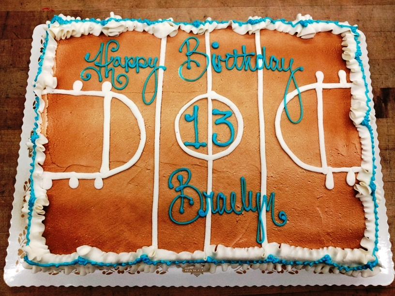 Basketball Court Sheet Cake