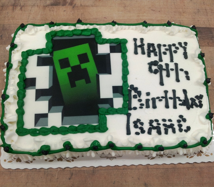 Minecraft Creeper Sheet Cake