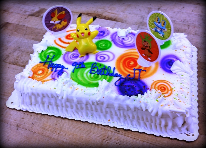 Pokemon Kit Sheet Cake