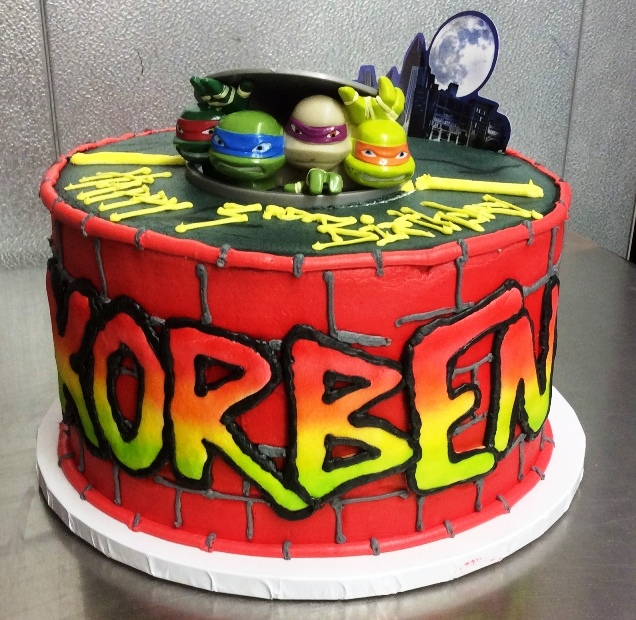 Teenage Mutant Ninja Turtles Round Cake
