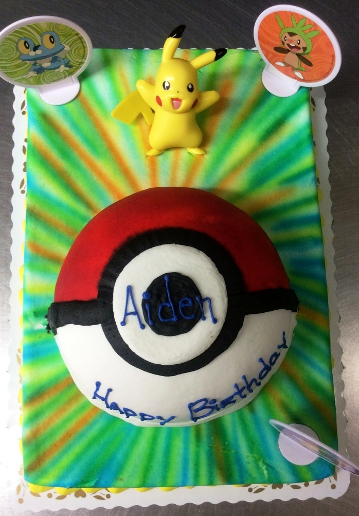 Pokemon Cake with Pokeball Half Ball Cake