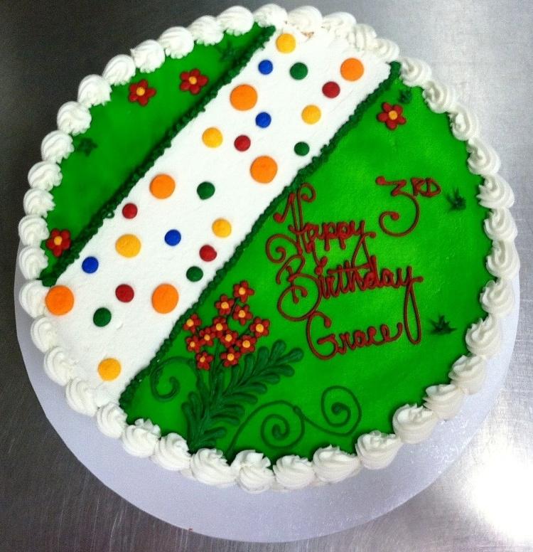 Round Cake with Garden Path