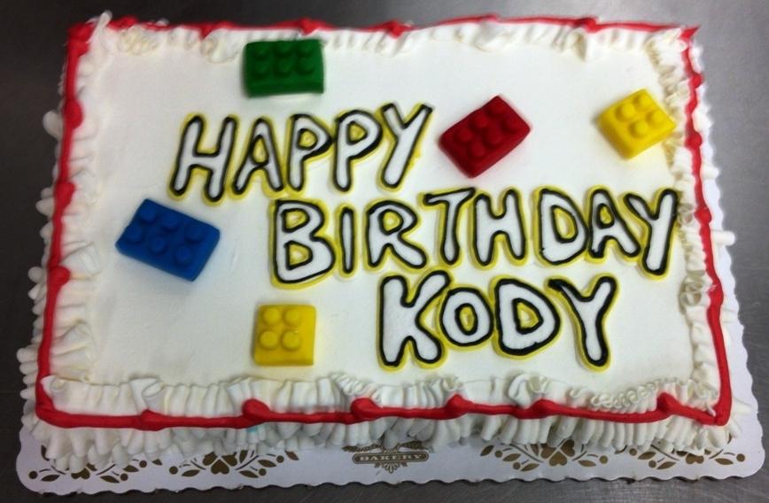 Lego Sheet Cake