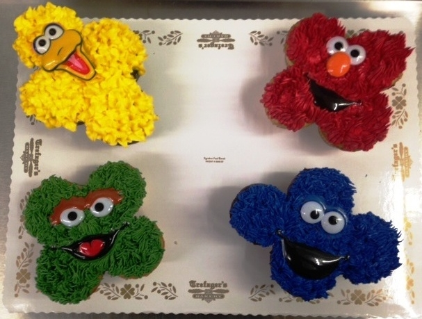 Sesame Street Character Cupcakes