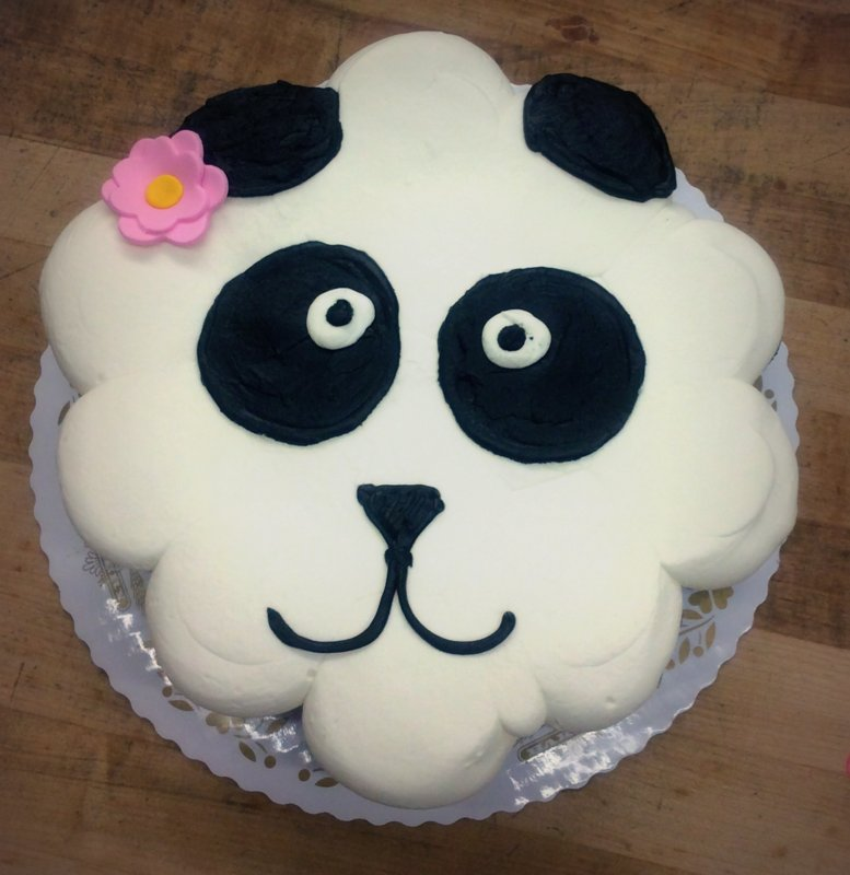 Panda Face Cupcake Cake