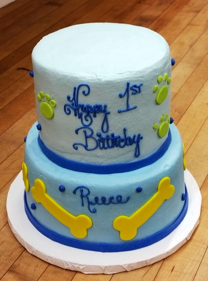 First Birthday Puppy Party Cake