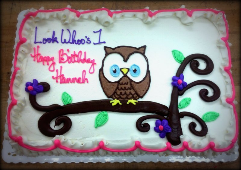Look Whoo's One Sheet Cake