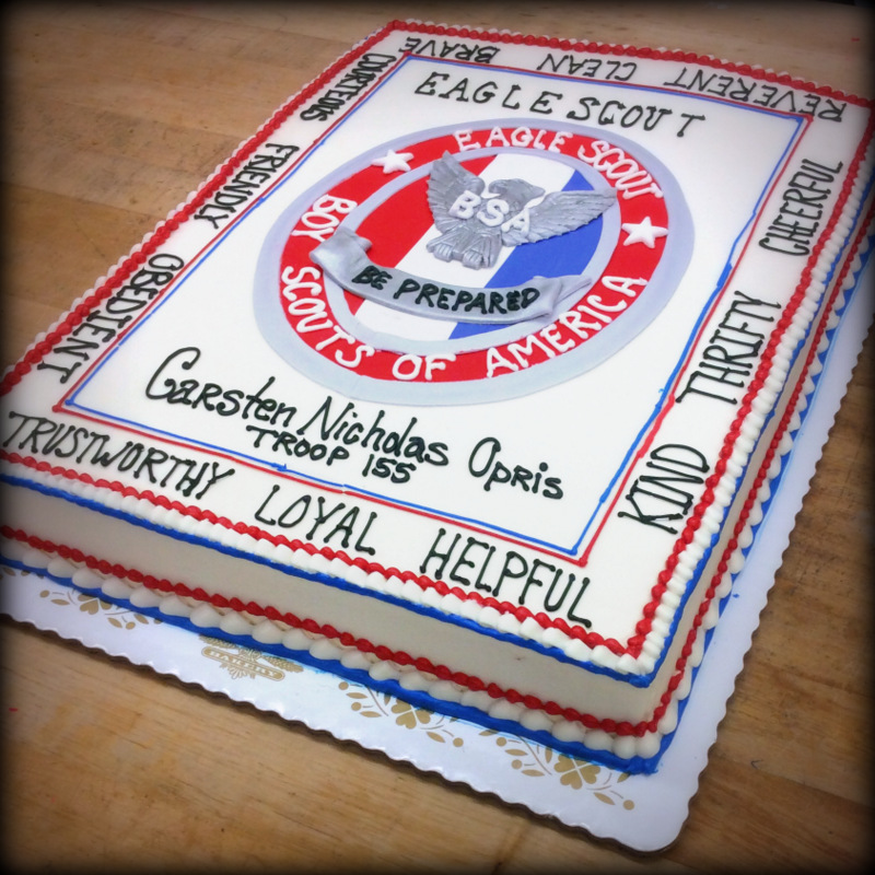 Eagle Scout Sheet Cake