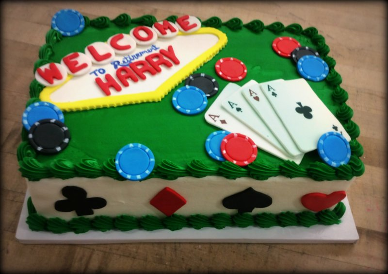 Las Vegas Themed  Sheet Cake