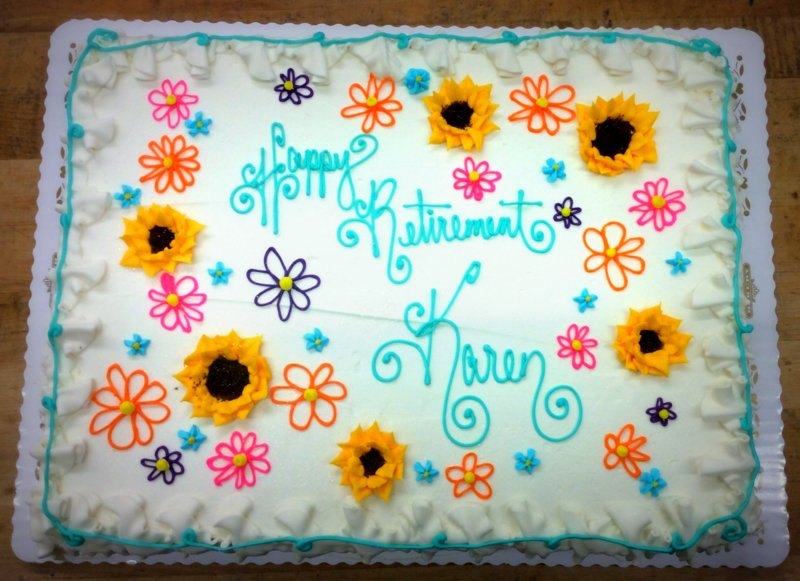 Sheet Cake with Sunflowers and Daisies