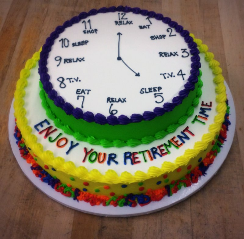 Retirement Clock Cake