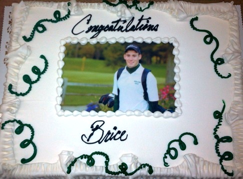 Graduation Sheet Cake with Photoscan and Streamers