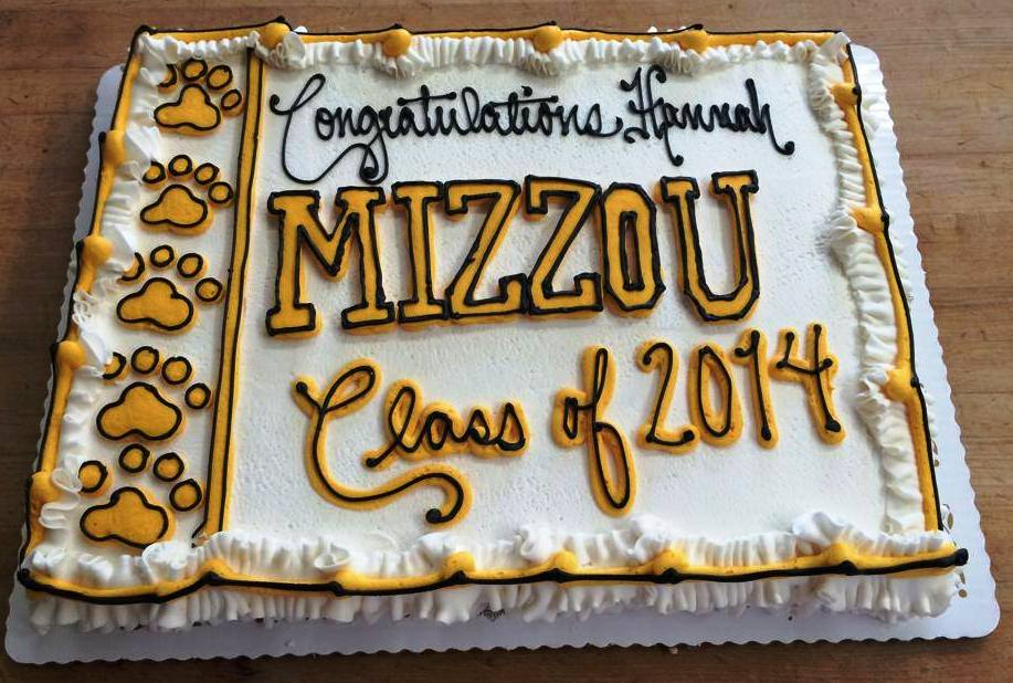 Mizzou Graduation Sheet Cake