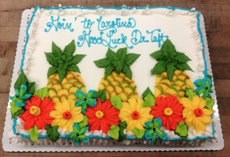 Sheet Cake with Pineapple Decorations