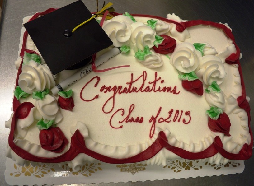 Sheet Cake with Graduation Cap