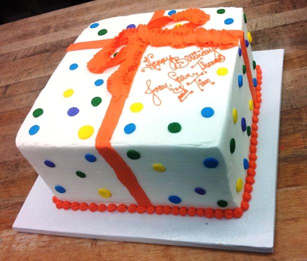 Birthday Present Square Cake