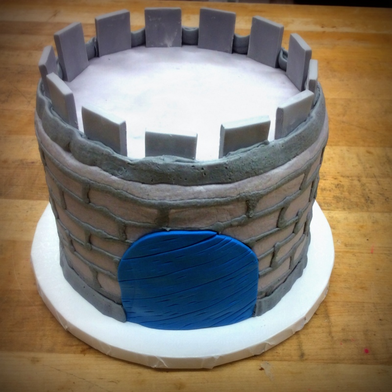 Castle Shaped Petite Cake