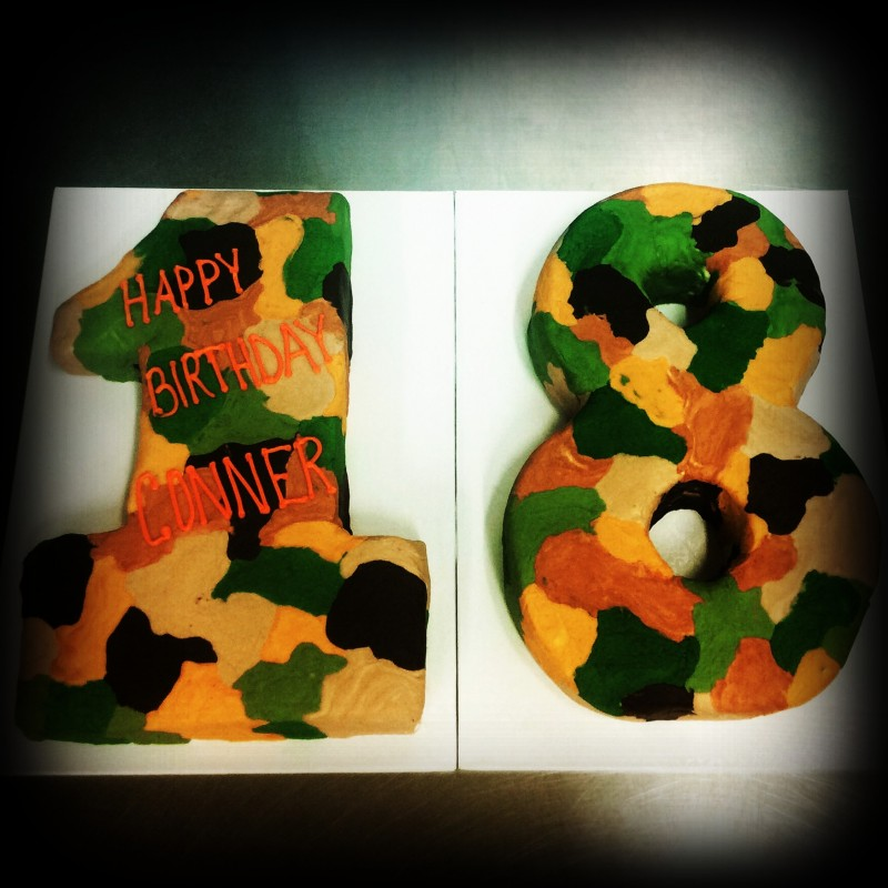 Camo Number Shaped  Cake
