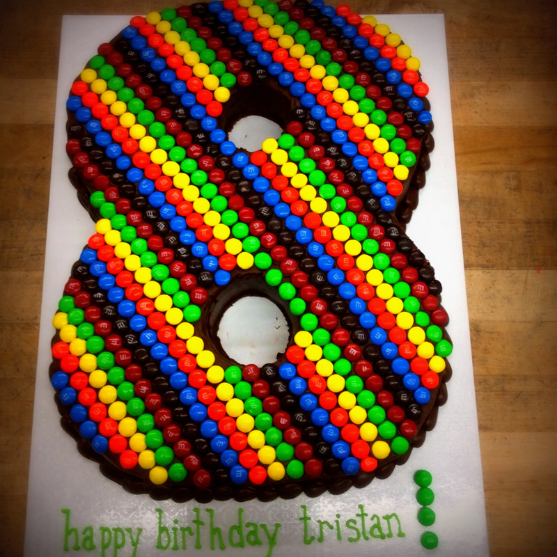 Number Shaped Cake with Candies