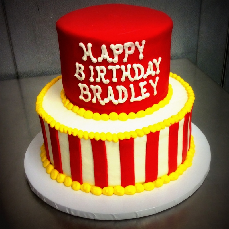 Red and Yellow Party Cake