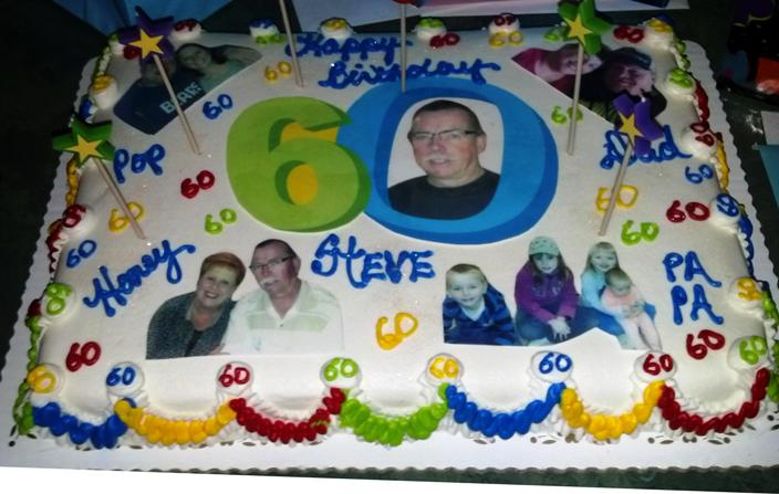 Steve Turns 60 Birthday Sheet Cake