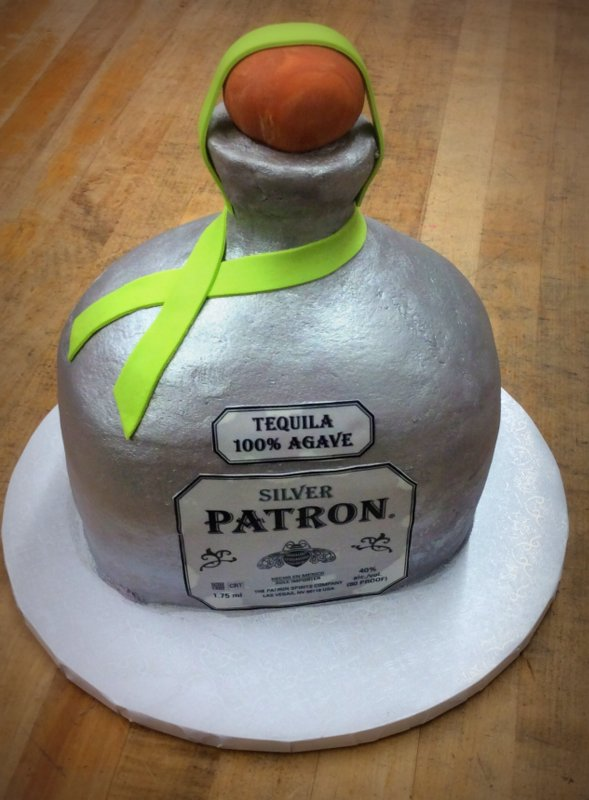 Patron Bottle Shaped Cake