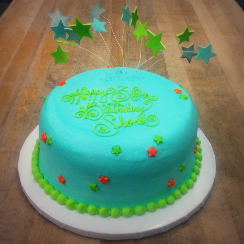 Round Cake with Bouncy Stars