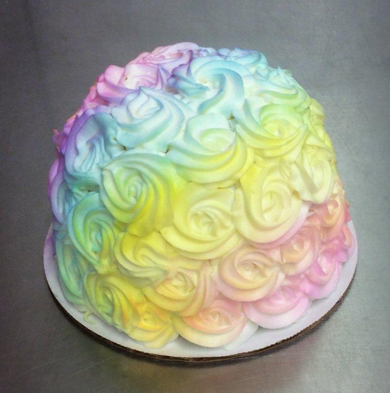 Petite Rainbow Rosette Cake