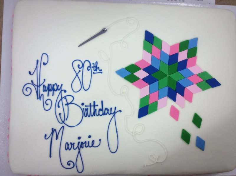 Knitting Sheet Cake