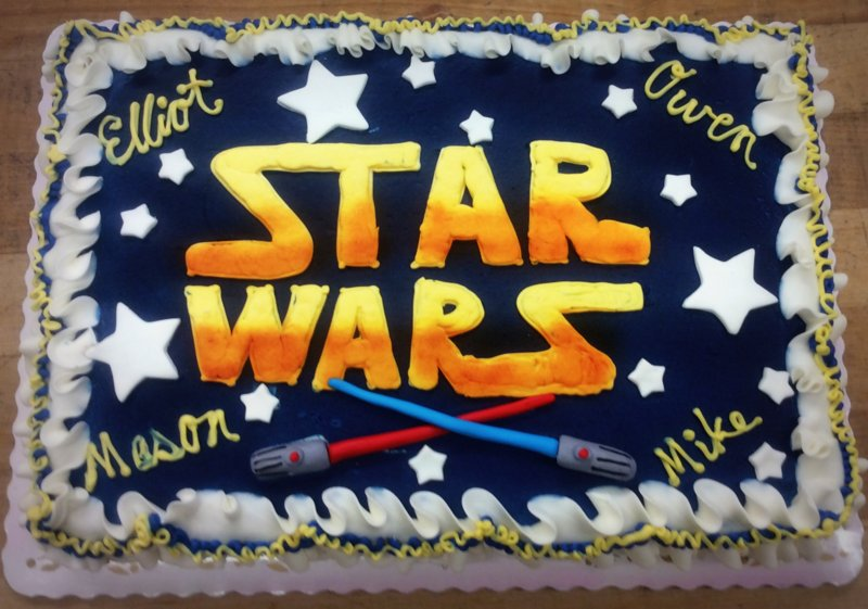 Star Wars Sheet Cake