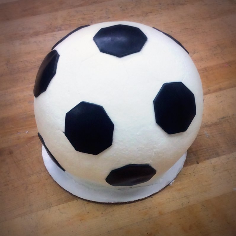 Soccer Ball Shaped Cake