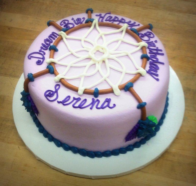 Dreamcatcher Round Cake