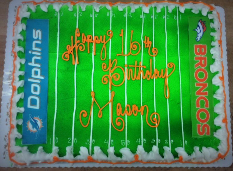 Favorite Football Teams Sheet Cake
