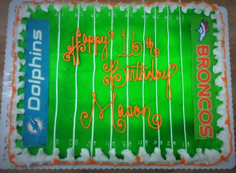 Favorite Football Teams Sheet Cake
