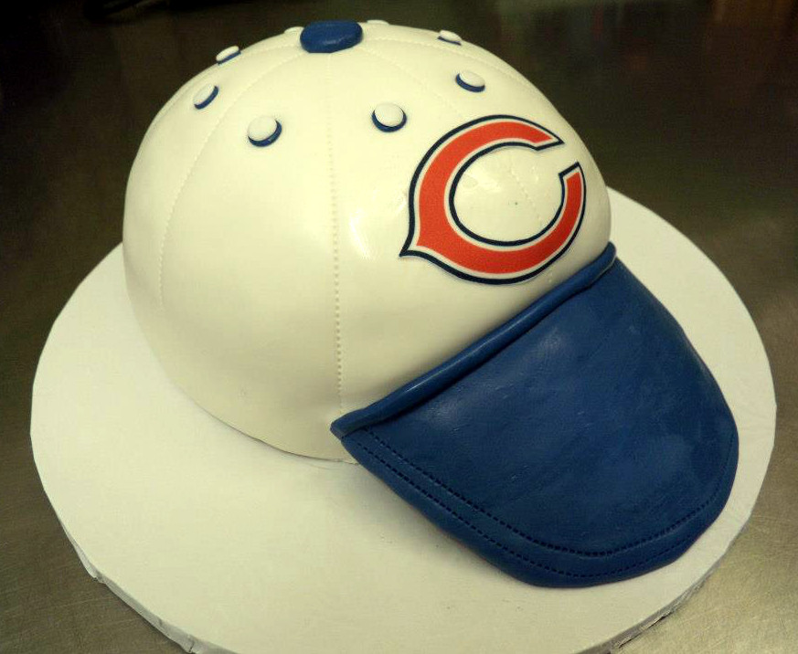 Chicago Bears Cap Shaped Cake